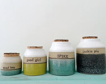 Personalized Pet Urn, XSMALL, Ceramic Urn, Pet Urn, Custom Urn, Dog, Cat, Pet, Cremation Urn, j clay pottery