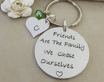 Friends Are Family We Chose, Like A Sister Keychain, Sisters Not By Birth But By Heart, Sister Keyring, Best Friend Gift, Sister in law gift