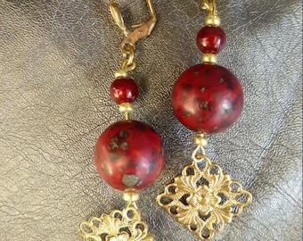 Jasper Baroque earrings