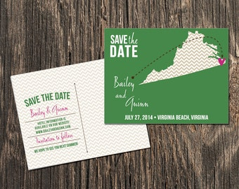 Virginia – Save the Date – Destination Wedding – Wedding Save the Dates