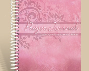 Journal / Notebook / Personalized Prayer Journal Pink Marble - Jeremiah 29:11/