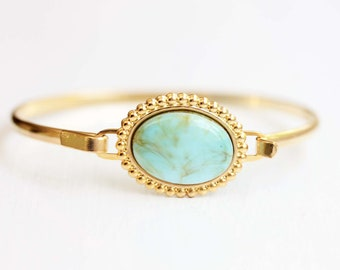 Turquoise Oval Bracelet