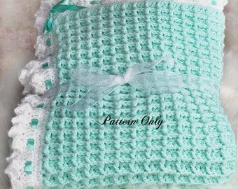Crochet baby blanket pattern, Crochet pattern, Digital download, Pdf pattern, Baby afghan pattern, Blanket pattern, Nursery decor, Waffle