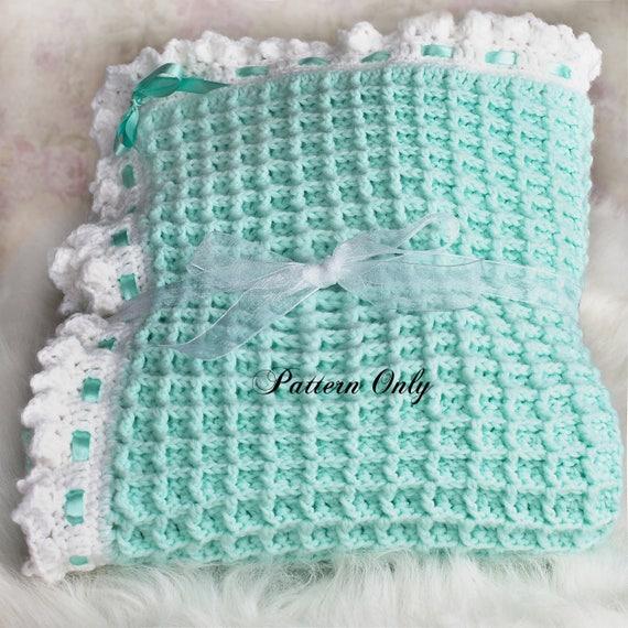 Crochet baby blanket pattern crochet pattern digital crochet baby blanket pattern crochet pattern digital download pdf pattern baby afghan pattern blanket pattern nursery decor waffle dt1010fo