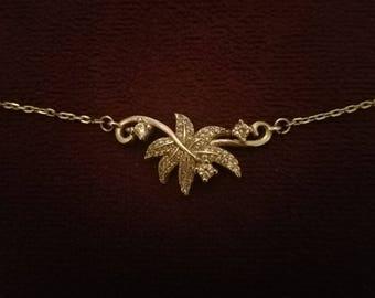 Leaf sterling silver necklace