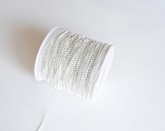 165' Silver Ball Chain - Silver Plated - 2mm - 50 Meters - Ships IMMEDIATELY from California - CH648-165