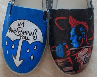Yondu Guardians of the Galaxy I'm Mary Poppins y'all hand painted shoes
