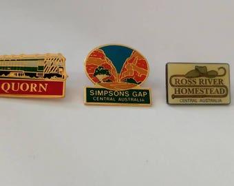 Vintage lot 3 Australian souvenir pins