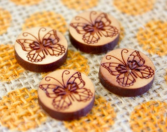 Laser Cut Supplies - Cherry Wood Mini Butterflies | Butterfly |  Jewellery, Craft