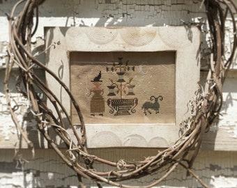 Stitching Witch ~ cross stitch PAPER PATTERN ~ from Notforgotten Farm™
