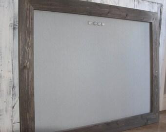 Framed Magnetic Bulletin Board, Barnwood Frame, Magnet Board, Framed Magnet Board, Framed Bulletin Board, Memo Board, Magnetic Board, 36x48