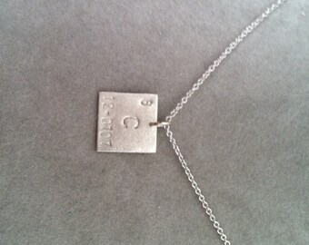 """Periodic Table """"Elemental"""" sterling silver pendant 12mm- your choice-FEATURED in Business Insider Gift Guide- geek girl collection chemistry"""