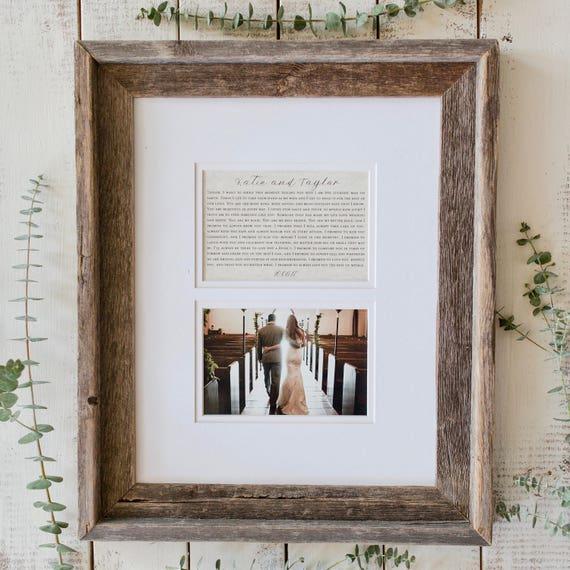 Wedding Vow Gifts: Wedding Vow Keepsake Printed Wedding Vows Wedding Gift