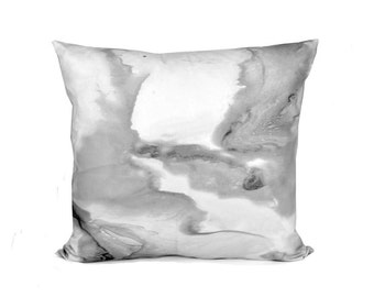 Marble Decorative Pillow | Black White And Grey Pillow Cover | Black And White Throw PIllow