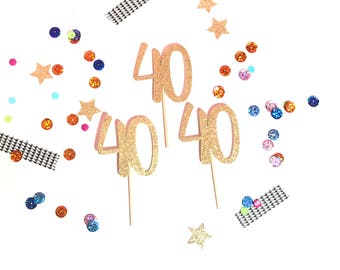40th Birthday Cupcake Toppers, 40th Birthday