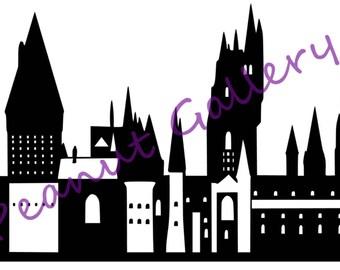 Hogwarts School of Witchcraft and Wizardry Decal, Harry Potter, laptop, car, window, tumbler, vinyl, sticker. Potterhead. Nerd, geek.