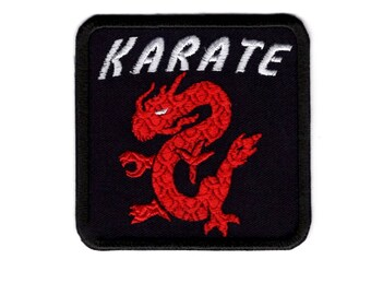 Karate Martial Arts Dragon Iron/Sew on Patch Badge #151