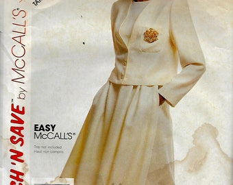 McCall's 3801     Misses Jacket, Flared Skirt    Size 12,14,16    Uncut