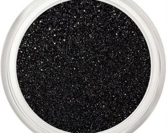 Matte Black Glitter Makeup, Rainbow Luster, Cosmetic Glitter, Loose Pigment, Iridescent Finish, Eyes Lips Face, Nails Nail Art, Eyes, Spin