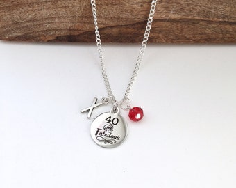 Personalized 40 & Fabulous Necklace