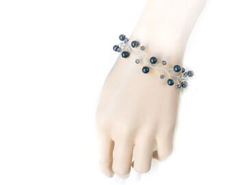 Bridesmaids Bracelet, Pearl Bracelet, Bridal Bracelet, Bridal Jewelry, Silver Jewelry, Wedding Jewelry, Wedding Bracelet by Durango Rose