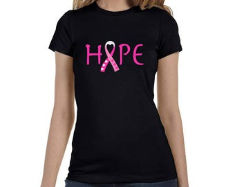 Breast Cancer Awareness Hope Survivor Pink Ribbon Women's T-Shirt