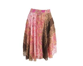 Romantic Skirt - Fairy Skirt - pink skirt -  elegant skirt - sexy skirt -upcycled skirt  - Size 16 skirt,    #  6