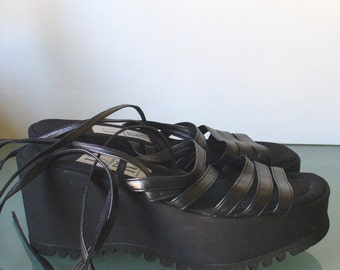 Umberto Romagnoli Six Strap Platform Sandals Made in Italy