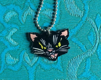 CAT charm necklace