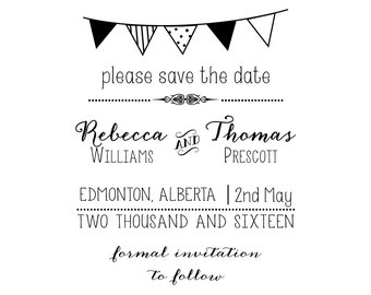 Flags Save the Date Stamp