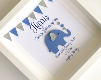 New baby gift etsy new baby frame new baby gift personalised baby gift elephant frame christening negle Image collections