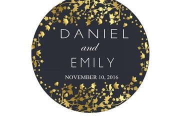 Personalized Wedding Stickers Thank You Sticker Round Labels Thank You Labels Wedding Favor Labels Stickers for Favors Custom Round Stickers