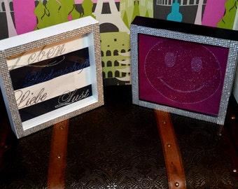 Finished frame with Rhinestones