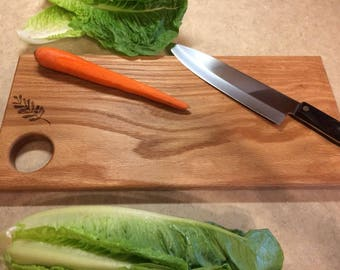 """Solid Red Oak Cutting Board 7-1/4"""" x 3/4"""" x 15-7/8"""" Hand Rubbed Mineral Oil Finish"""