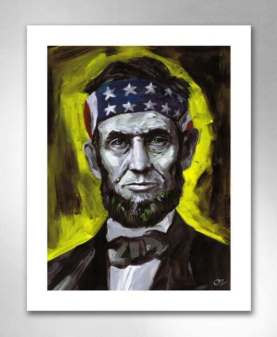 ABE LINCOLN Liberty Thinkin' American Art Print 11x14 by Rob Ozborne