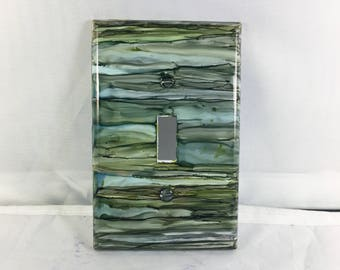Single Switchplate, Multi Colored Switchplate, Home Decor, Painted Switchplate, Light Switch
