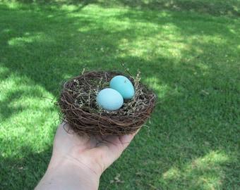 Bird Nests, Craft Bird Nests, Bird Nest with Faux Eggs, Faux Bird Nest with Eggs, Wedding Bird Nests