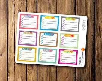 To Do List Planner Stickers, Erin Condren Planner Book Stickers