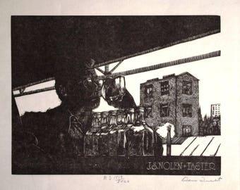 DAN QUEST J.S. Nolen Taster Jack Daniels signed numbered print