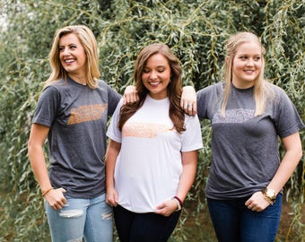 Hand Lettered THE VOLUNTEER STATE Graphic Tee / / Tennessee Tee / / Tennessee Shirt