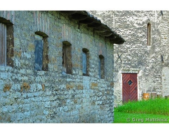 Fine Art Color Photography of Old Stone Building Along the Medieval Walls of Tallinn