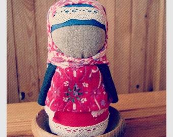 Motanka  Zernjanka Ukrainian traditional doll buckweat doll