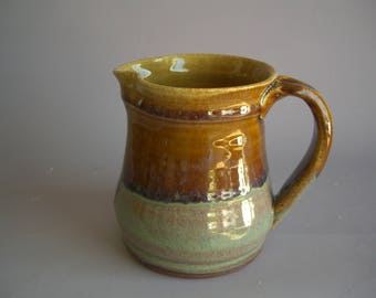 Hand thrown stoneware pottery small pitcher    (P-2)