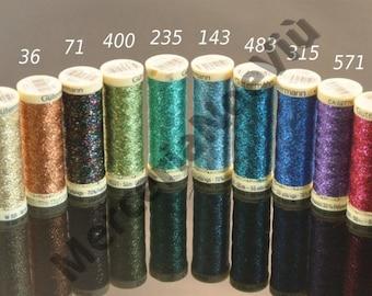 Gutermann creativ Embroidery Metallic Effect Thread W 331 glitter 54 yds