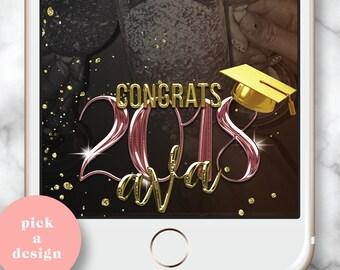 Graduation SnapChat Geo, Graduation snapchat, Grad Party Snapchat GeoFilter, Custom Graduation Snap Chat Geo Filter, Class of 2018 Snap chat