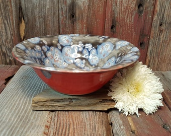 Cosmic Daydreams Ceramic Bowl, Ceramic Artisan Bowl, Handmade Ceramic Bowl