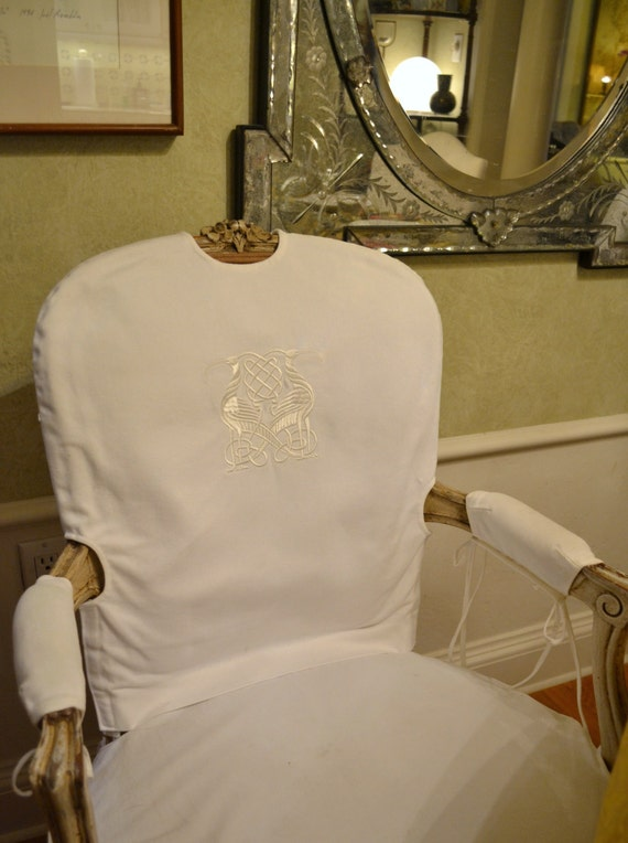 EMBROIDERED CHAIR BACK Custom Exclusive Design Embroidered