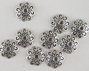 20 bead caps in antique silver 12 mm cals026 caps