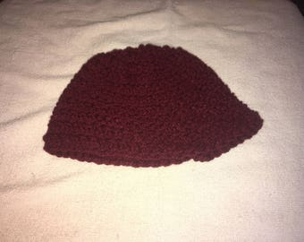 0-6 months Burgundey Baby Hat