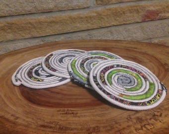 coiled rope coaster set (4)